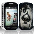 Hard Plastic Rubber Feel Design Case for HTC Mytouch Slide 4G - Ace of Spade Skull
