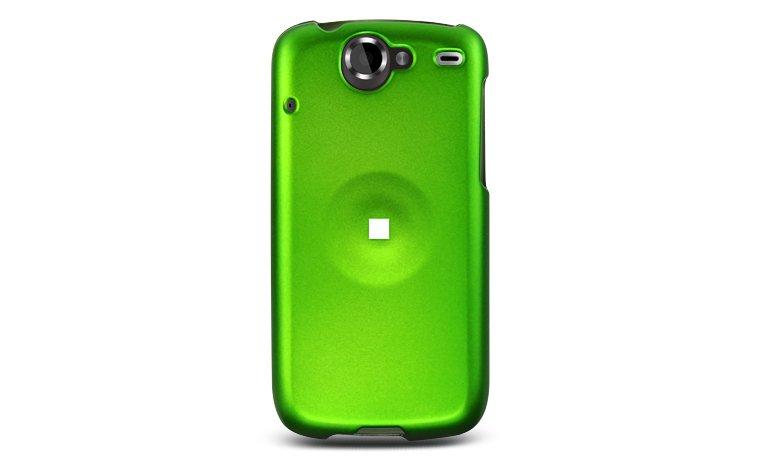 Hard Plastic Rubber Feel Case for HTC Google Nexus One - Green