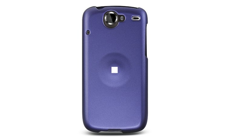 Hard Plastic Rubber Feel Case for HTC Google Nexus One - Purple