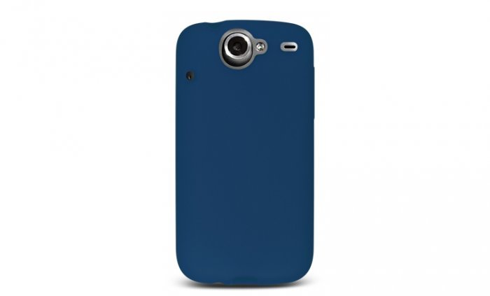 Soft Silicone Skin Cover Case for HTC Google Nexus One - Blue
