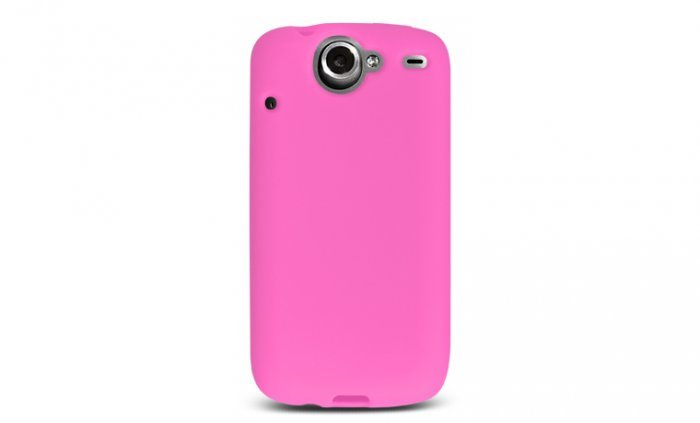 Soft Silicone Skin Cover Case for HTC Google Nexus One - Hot Pink