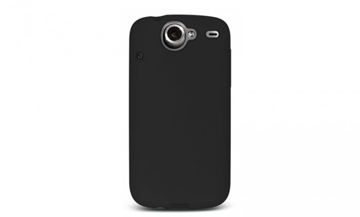 Soft Silicone Skin Cover Case for HTC Google Nexus One - Black
