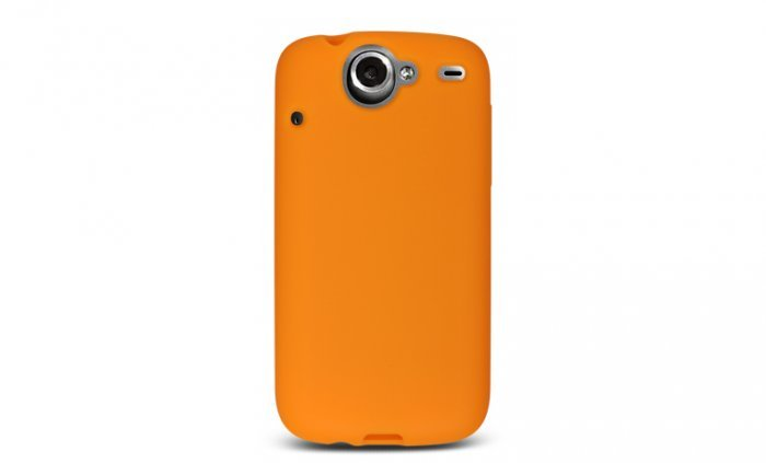 Soft Silicone Skin Cover Case for HTC Google Nexus One - Orange