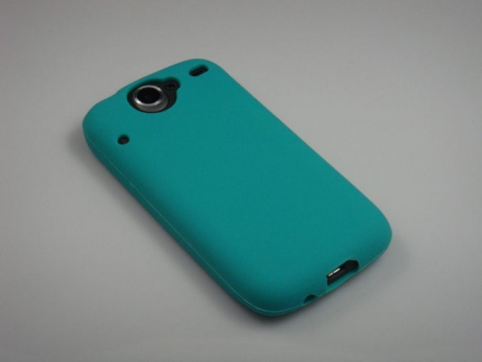 Soft Silicone Skin Cover Case for HTC Google Nexus One - Turquoise