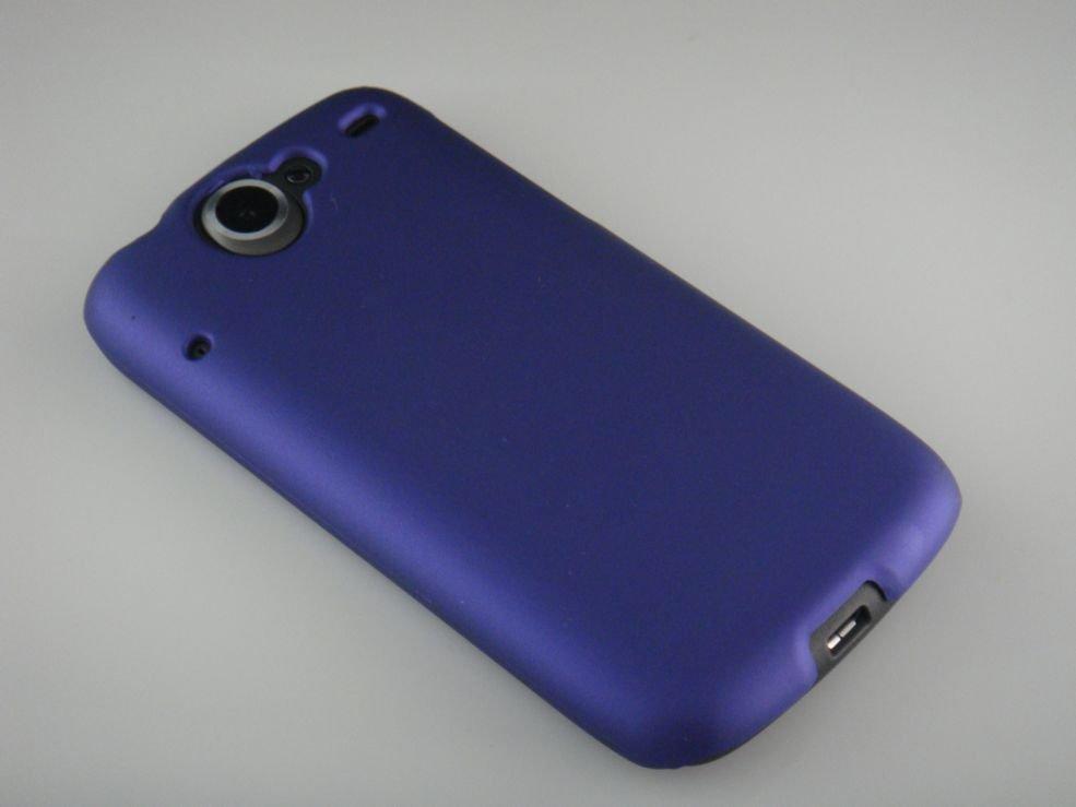 Hard Plastic Rubber Feel Back Cover Case for HTC Google Nexus One - Purple