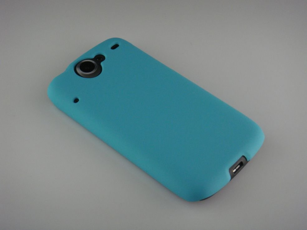 Hard Plastic Rubber Feel Back Cover Case for HTC Google Nexus One - Turquoise