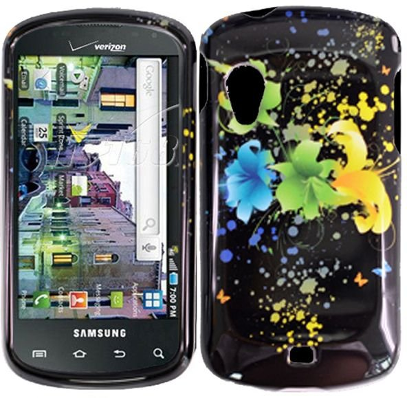 Hard Plastic Design Case for Samsung Stratosphere i405 - Magical Flowers