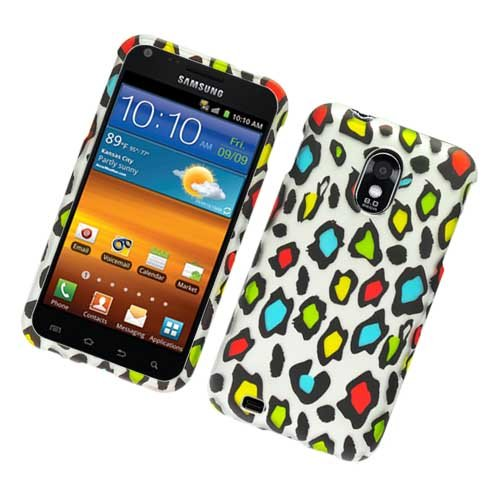 Hard Plastic Rubber Feel Design Case for Samsung Galaxy S II Epic 4G Touch - Colorful Leopard
