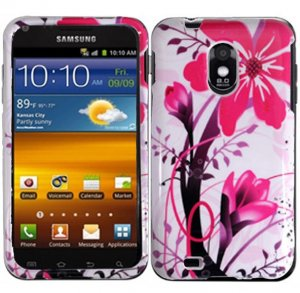 Hard Plastic Design Case for Samsung Galaxy S II Epic 4G Touch - Pink Flowers
