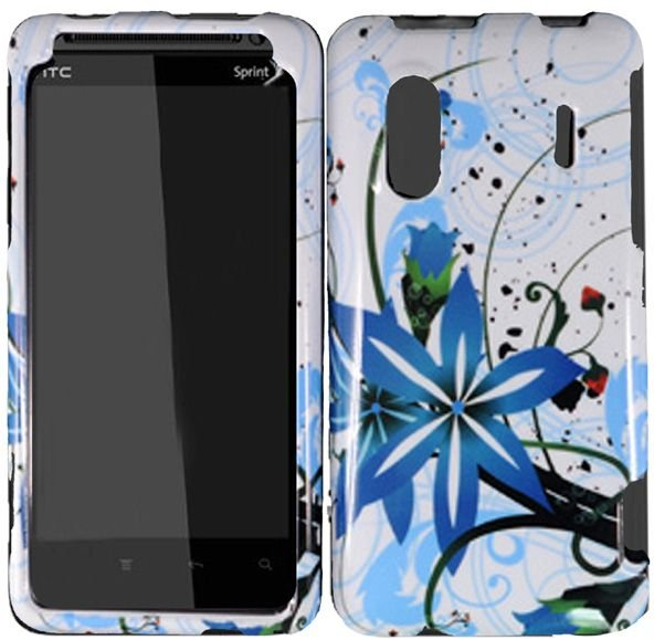 Hard Plastic Design Cover Case for HTC Evo Design 4G/Kingdom - Blue Splash