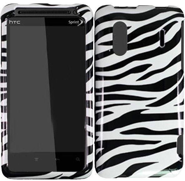 Hard Plastic Design Cover Case for HTC Evo Design 4G/Kingdom - Black and White Zebra