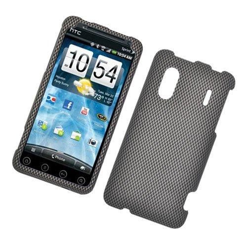Hard Plastic Rubber Feel Design Case for HTC Evo Design 4G/Kingdom - Carbon Fiber