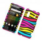 Hard Plastic Rubber Feel Design Case for HTC Evo Design 4G/Kingdom - Abstract Zebra