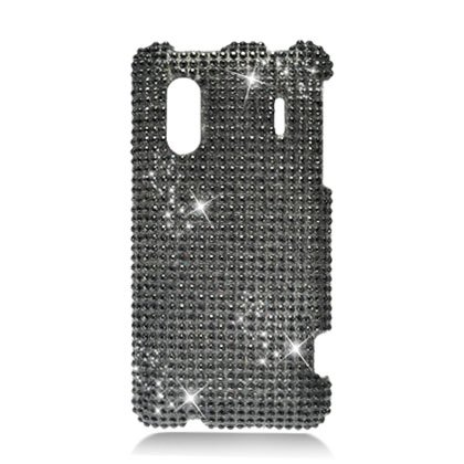 Hard Plastic Bling Rhinestone Design Case for HTC Evo Design 4G/Kingdom - Black