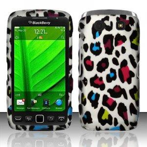 Hard Plastic Rubber Feel Design Case for Blackberry Torch 9850/9860 - Rainbow Leopard