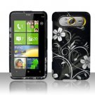 Hard Plastic Rubber Feel Design Case for HTC HD7/HD7S - Midnight Garden
