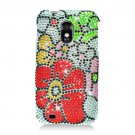 Hard Plastic Bling Rhinestone Design Case for Samsung Galaxy S II Epic 4G Touch - Fall Flowers