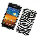Hard Plastic Glossy Design Case for Samsung Galaxy S II Epic 4G Touch - Black and White Zebra