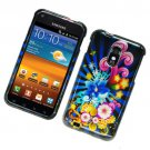 Hard Plastic Glossy Design Case for Samsung Galaxy S II Epic 4G Touch - Colorful Blossom