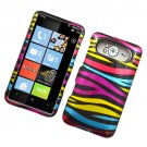 Hard Plastic Glossy Design Case for HTC HD7/HD7S - Abstract Zebra