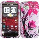 Hard Plastic Design Cover Case for HTC Rezound 6425 - Pink Flower