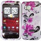 Hard Plastic Design Cover Case for HTC Rezound 6425 - Purple Lily