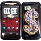 Hard Plastic Design Cover Case for HTC Rezound 6425 - Dollar Sign