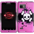 Hard Plastic Design Case for Motorola Droid Bionic Targa XT875 - Pink Girly's Skull