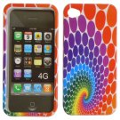 Hard Plastic Design Case for Apple iPhone 4/4S - Colorful Rainbow
