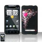 Hard Plastic Rubber Feel Design Full Case for HTC Evo 4G - Royal Heart