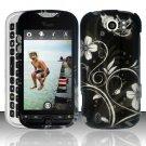 Hard Plastic Rubber Feel Design Case for HTC Mytouch Slide 4G - Midnight Garden