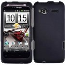 Hard Plastic Rubber Feel Cover Case for HTC Radar 4G - Black
