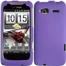 Hard Plastic Rubber Feel Cover Case for HTC Radar 4G - Purple