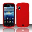 Hard Plastic Rubber Feel Case for Samsung Stratosphere i405 - Red