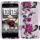 Hard Plastic Design Cover Case for HTC Radar 4G - Purple Lily