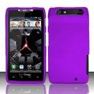 Hard Plastic Rubber Feel Case for Motorola Droid RAZR XT912 - Purple