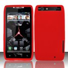 Soft Silicone Skin Cover Case for Motorola Droid RAZR XT912 - Red