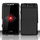 Hard Plastic Rubber Feel Design Case for Motorola Droid RAZR XT912 - Carbon Fiber