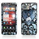 Hard Plastic Design Case for Motorola Droid Bionic Targa XT875 - Blue Skulls