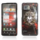 Hard Plastic Design Case for Motorola Droid Bionic Targa XT875 - Black and White Skull