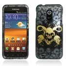Hard Plastic Design Case for Samsung Galaxy S II Epic 4G Touch - Yellow Skulls