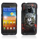Hard Plastic Design Case for Samsung Galaxy S II Epic 4G Touch - Black and White Skull