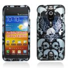 Hard Plastic Design Case for Samsung Galaxy S II Epic 4G Touch - Blue Skulls