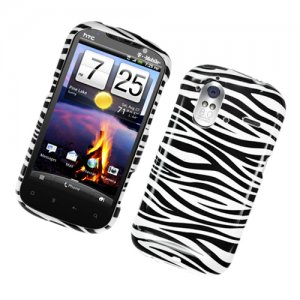 Hard Plastic Glossy Cover Case for HTC Amaze 4G/Ruby - Black and White Zebra