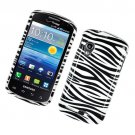 Hard Plastic Glossy Cover Case for Samsung Stratosphere i405 - Black and White Zebra