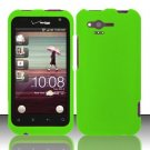 Hard Plastic Rubber Feel Cover Case for HTC Rhyme/Bliss 6330 - Neon Green