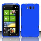 Hard Plastic Rubber Feel Cover Case for HTC Titan X310e - Blue