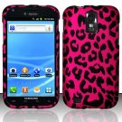 Hard Plastic Rubber Feel Design Case for Samsung Galaxy S II/Hercules T989 - Hot Pink Leopard