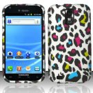 Hard Plastic Rubber Feel Design Case for Samsung Galaxy S II/Hercules T989 - Rainbow Leopard