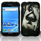 Hard Plastic Rubber Feel Design Case for Samsung Galaxy S II/Hercules T989 - Ace of Spade Skull